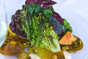 Recipe: Grilled Lettuces with Persimmons, Yogurt, Pistachios & Smoked Butter