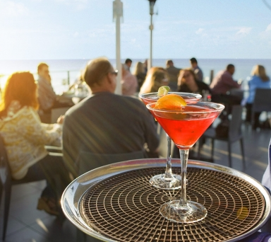 Drinks by Ocean Terrace
