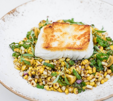 Seared Alaskan Halibut