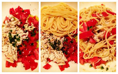 Recipe: A Simple Pasta with Tomato, Jalapeno and Albacore Tuna