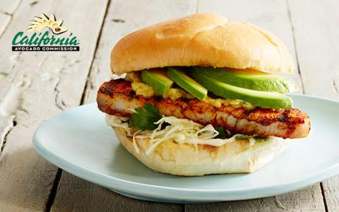 Recipe: Achiote Grilled Fish Sandwich with California Avocado and Roasted Pineapple-Jalapeño Spread