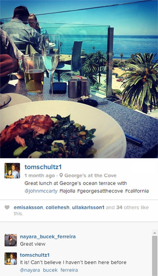 George's at the Cove Instagram image from tomschultz1
