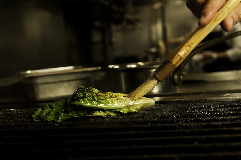 Grilled Lettuce on Grill